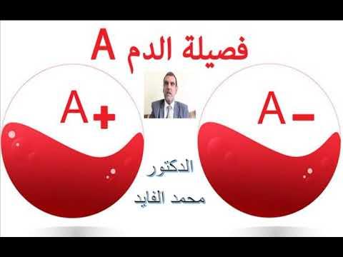 معلومات حول فصيلة الدم A الدكتور محمد الفايد Youtube