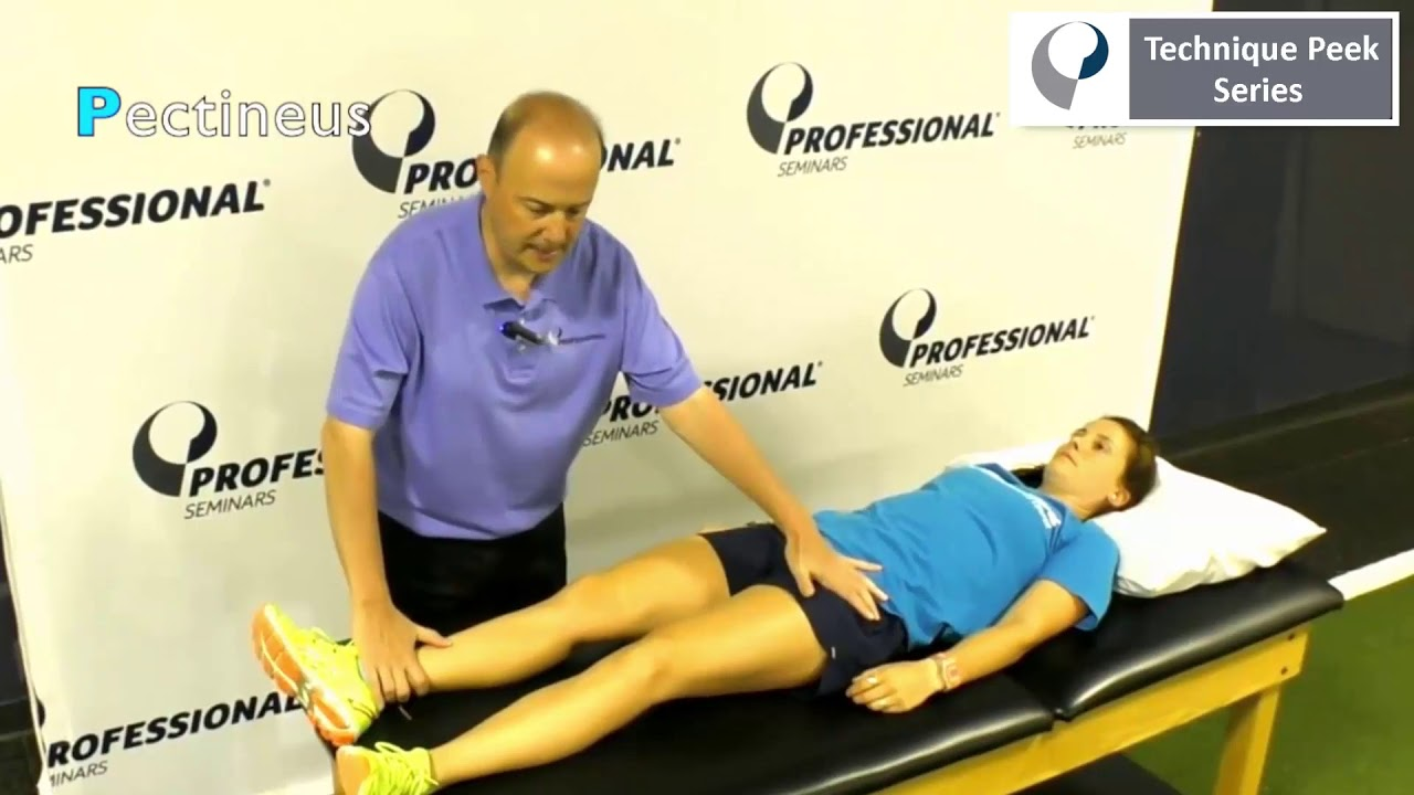 Technique Peek Video - How to Muscle Test Hip Adductors