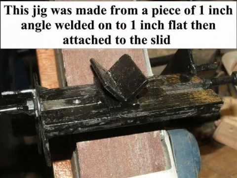 Sharpening Woodturning Chisels With A Homemade Belt Sander