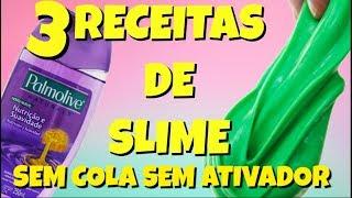 3 RECEITAS DE SLIME SEM COLA | SLIME DE SABONETE LIQUIDO| TESTANDO SLIME DAS GRINGAS |NOVO ROSA.