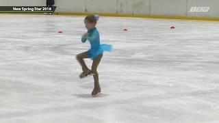 Фигурное катание. Лаура 5 лет. Соревнования по элементам 1 место. New Spring Star 2018 - Эстония.
