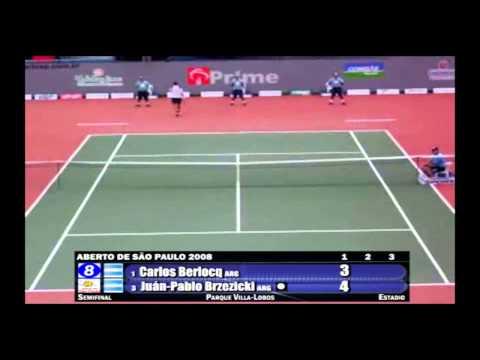 Carlos Berlocq v Juan Pablo Brzezicki - Aberto de São Paulo 2008 - Semi 1 (Momentos)