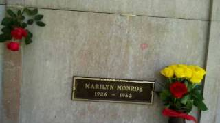 LIVE FROM THE GRAVE OF MARILYN MONROE HAPPY 83RD BIRTHDAY MARILYN MONROE, JUNE 1. 2009