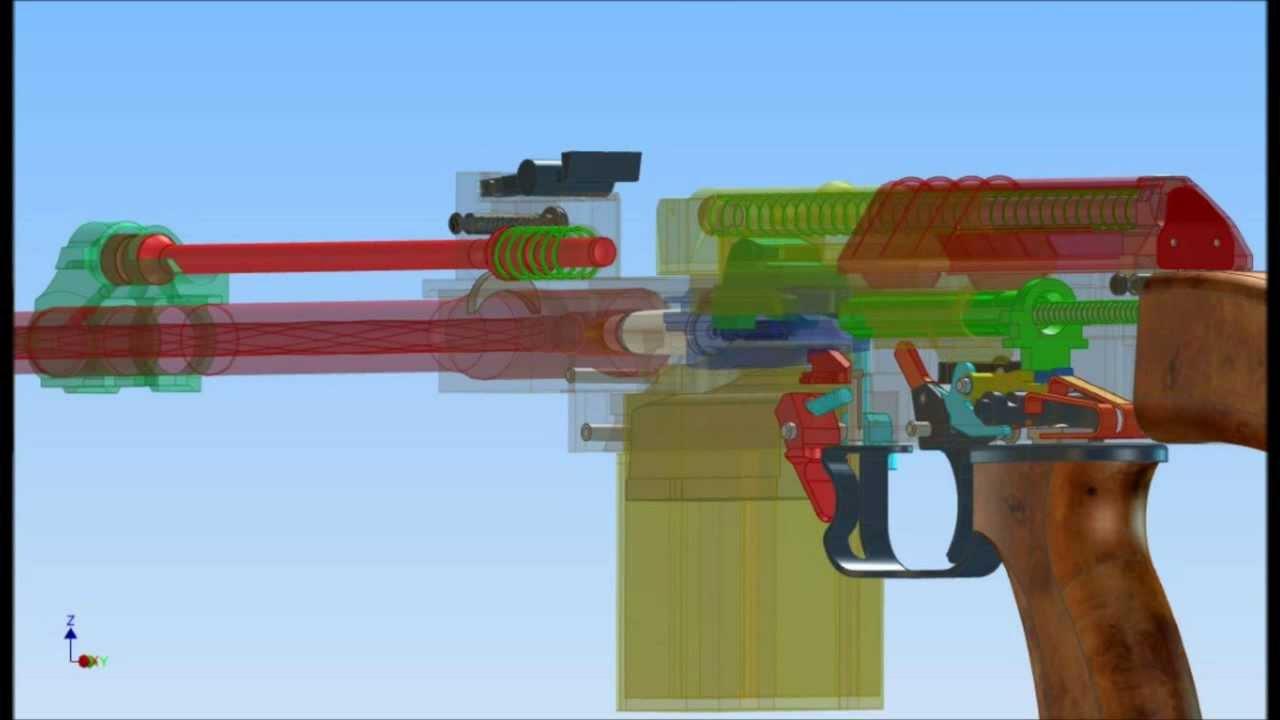 Animation Of Function Of Sa Vz 58 Youtube