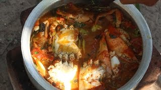How to cook Crab Curry Village Style || Country Food || Indian Village Style Crab Curry Recipes
