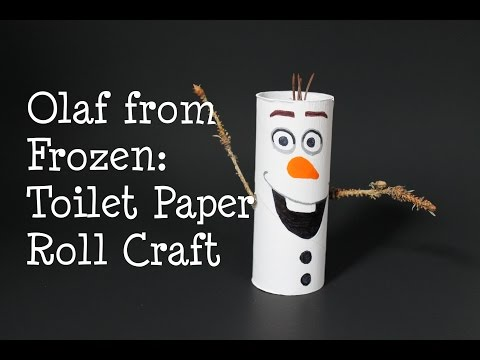 Olaf from Frozen! DIY Toilet Paper Roll Craft | TheKateeMeow