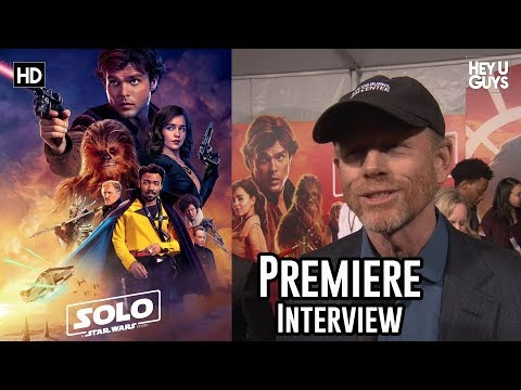 Director Ron Howard on the defining adventure of Solo: A Star Wars Story World Premiere Interview