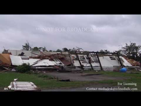 Eustace, TX  Extensive Tornado Damage Houses Destroyed  4 29 2017