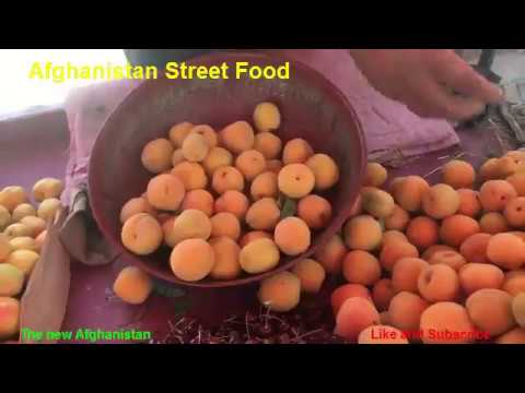 Afghanistan Street Food Fresh Fruits Video Kabul city