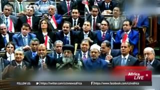 Egypt's President hails progress in first speech to parliament