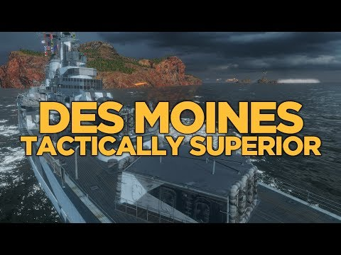 World of Warships - Des Moines Tactically Superior