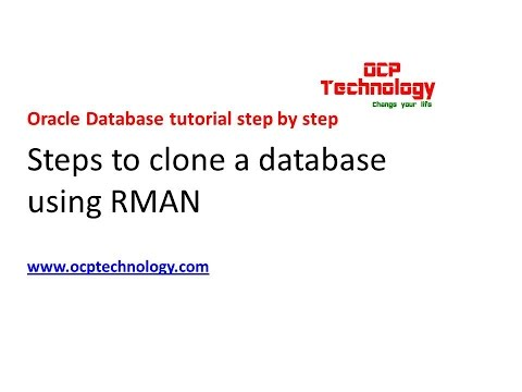 Step to clone a database using RMAN