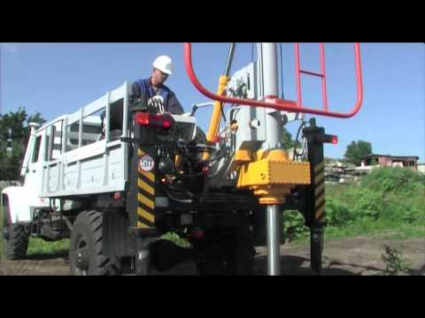 Геомаш: Бурильно-крановые машины БКМ серии 300 на ГАЗ 33081 и тракторе МТЗ