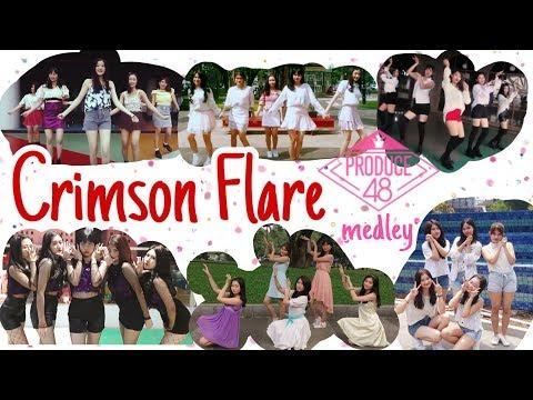 Produce48 (프로듀스48) 30 Girls 6 Concepts Dance Cover Medley By Crimson Flare (크림슨 플레르)