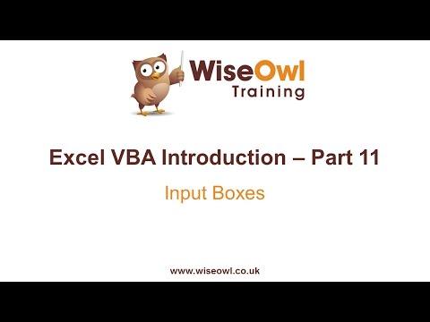 Excel VBA Introduction Part 11.1 - Input Boxes