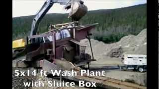 Gold Wash Plant with Sluice Box In Action | Placer Mining Equipment