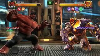4 Star Red Hulk to Rank 5 + AQ Map 5 Dormammu Boss Takedown | Marvel Contest of Champions