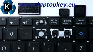 How to install key in keyboard Asus VIVOBOOK S551 S551L V551 X502 X551 P551 R510 R512