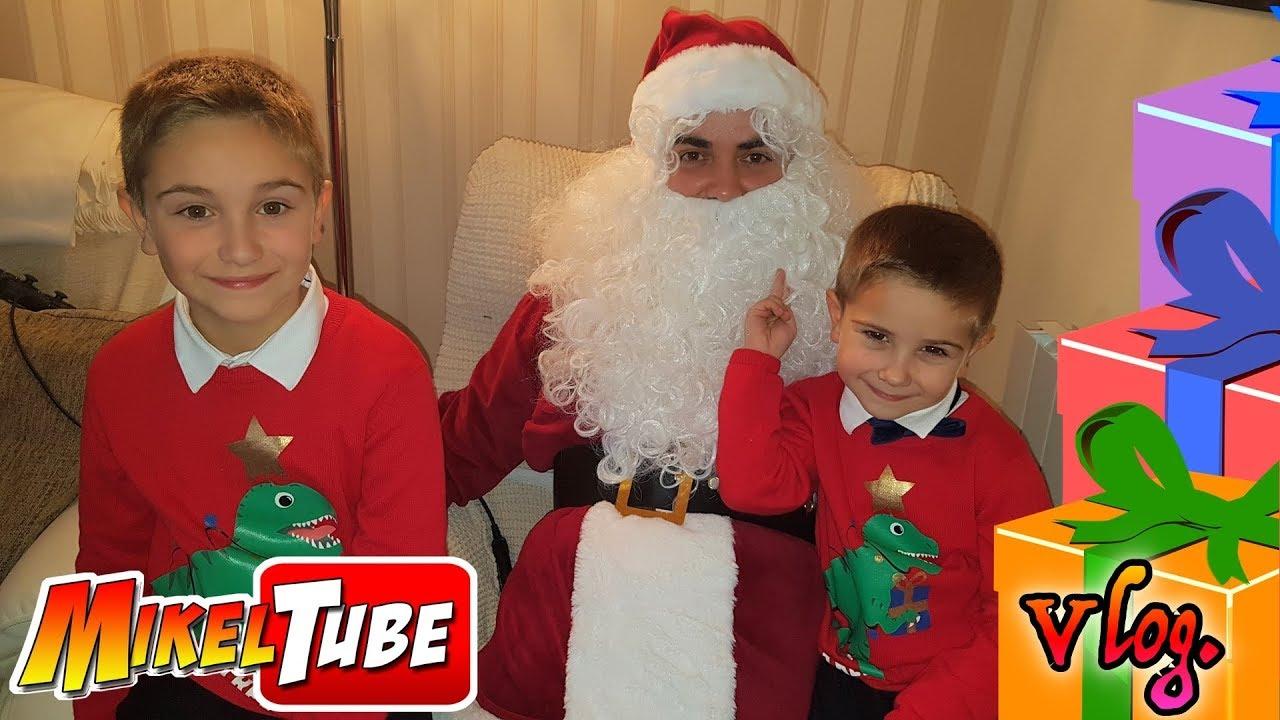 NocheBuena y Regalos de Navidad ???? con Papa Noel ???? en MikelTube Vlog.