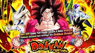 2050 STONES! FULL POWER SUPER SAIYAN 4 GOKU DOKKAN FESTIVAL SUMMONS [GLOBAL] DBZ Dokkan Battle