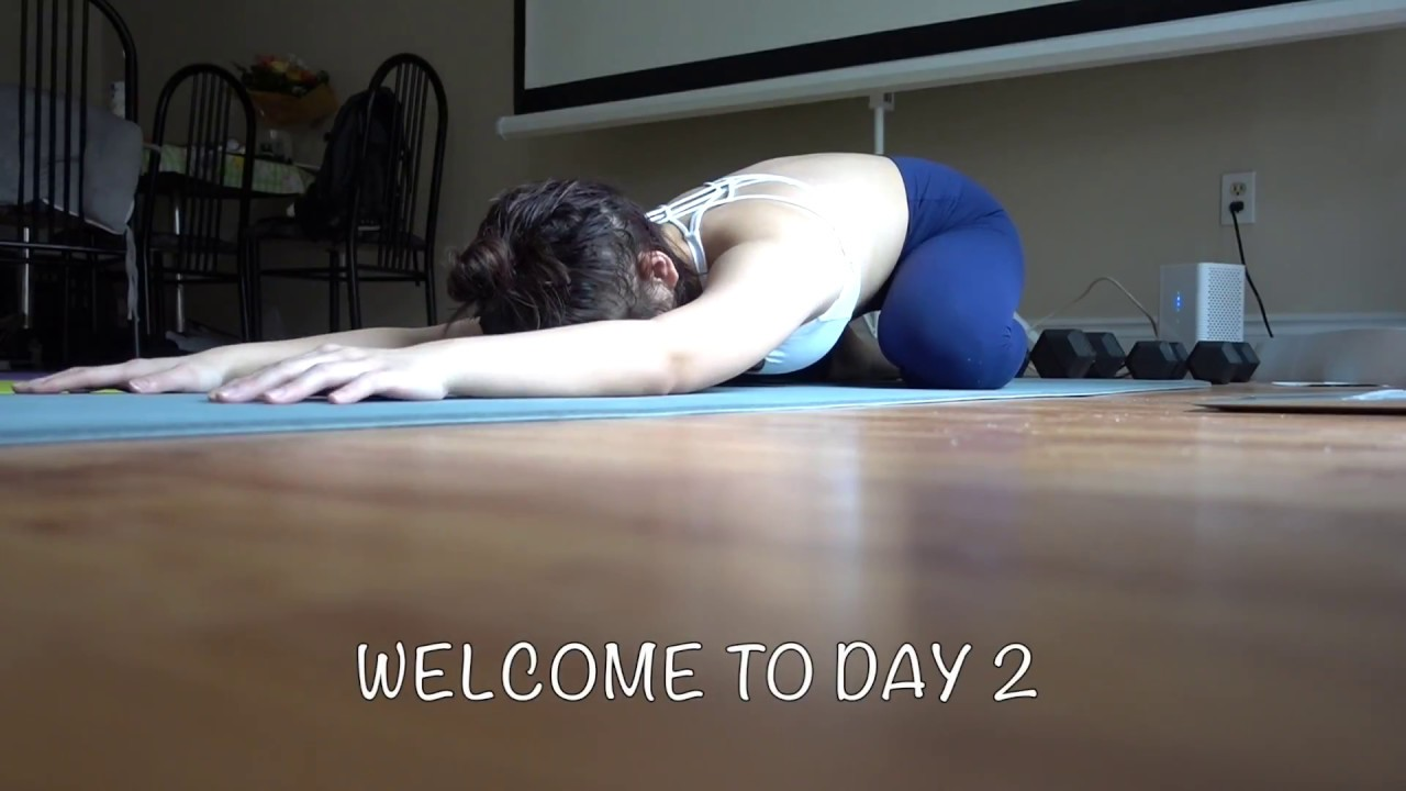 DAY 2 (30 DAYS OF YOGA WITH ADRIENE CHALLENGE) - YouTube