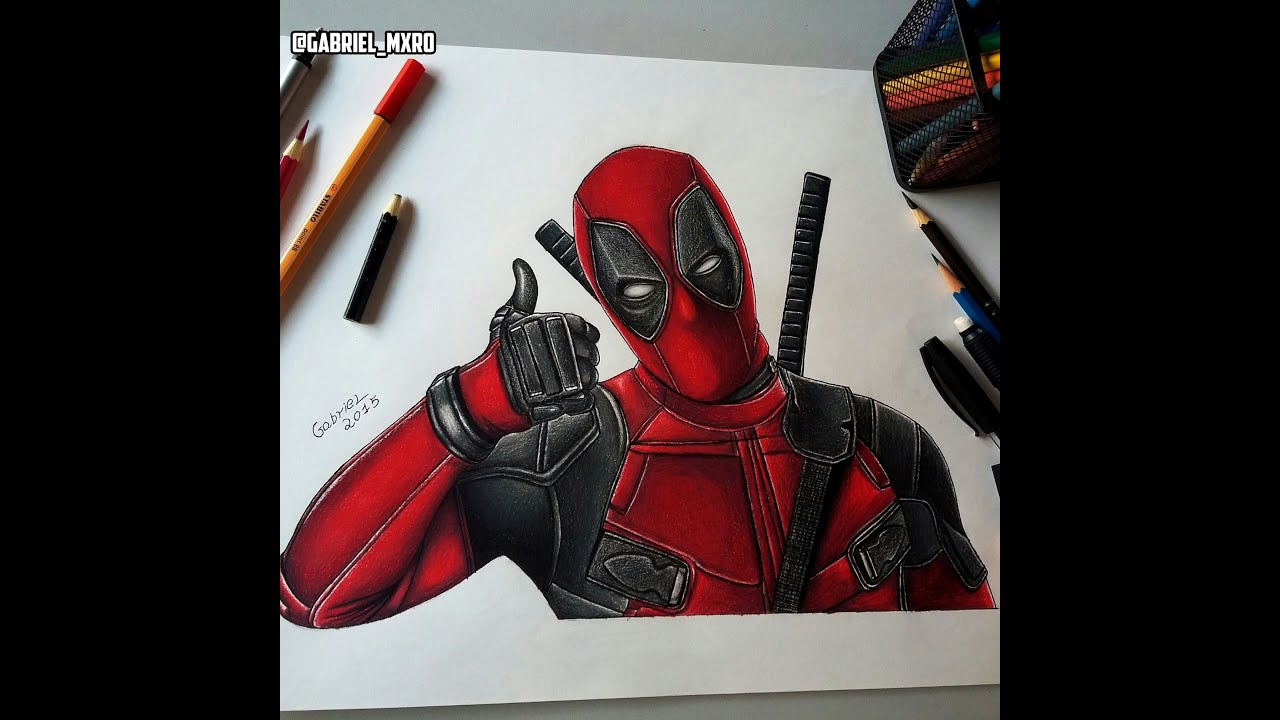 Drawing Deadpool - YouTubeDeadpool Sketch