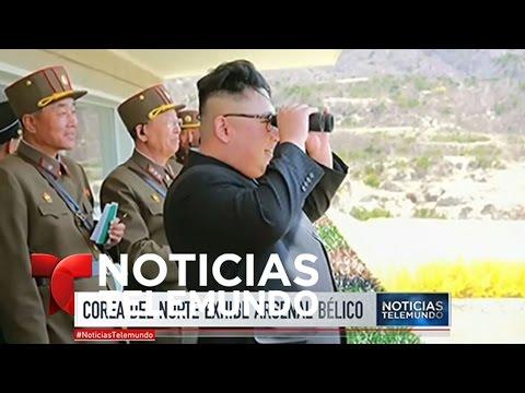 Corea del Norte exhibe inédito arsenal bélico de largo alcance | Noticiero | Noticias Telemundo