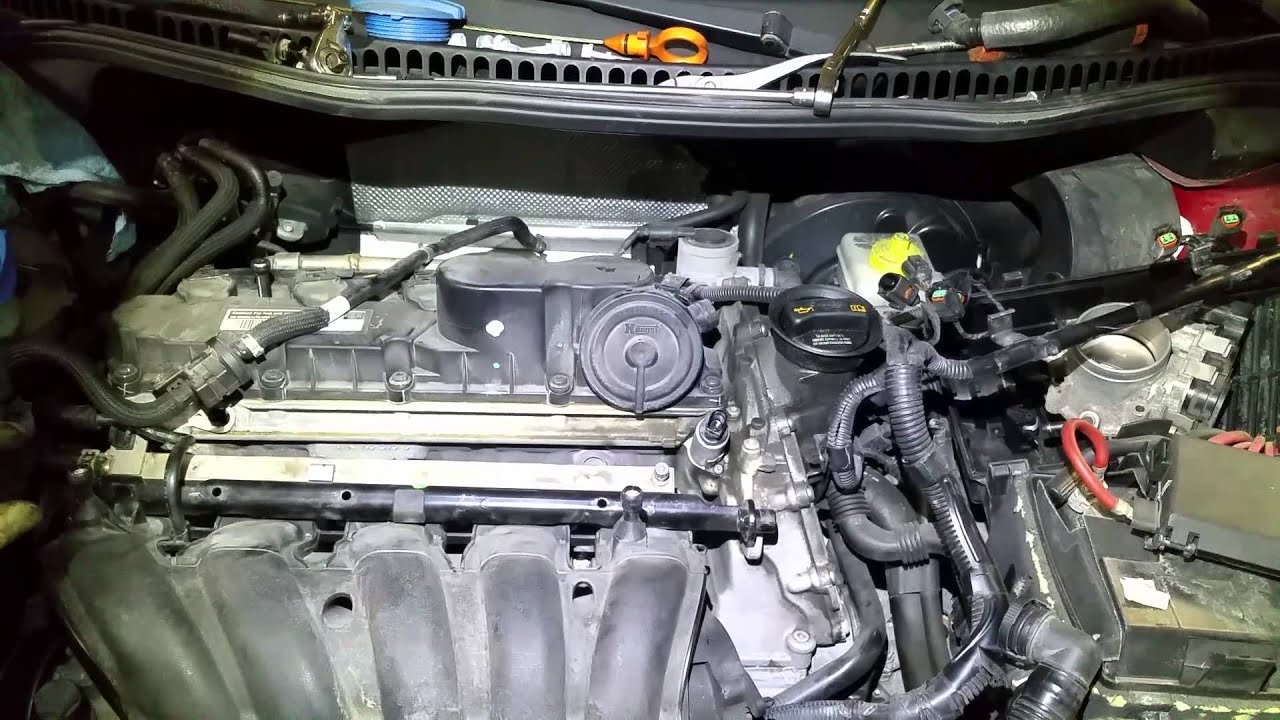 VW Beetle 2.5 T-Stat Replacement - YouTube