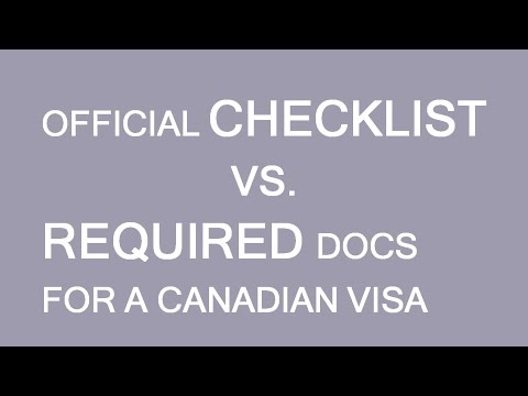 Documents checklist for a temporary visa to Canada. What could I submit there? LP Group