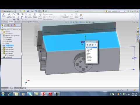 SolidWorks Lecture 1 -  Third Part