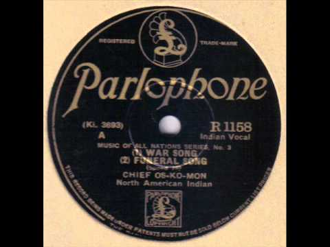 CHIEF OS-KO-MON - War Song / Funeral Song 78 rpm disc