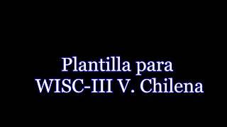 Interprete WISC-III versión CHILENA
