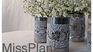 Diy: Elegant Wedding Centerpieces Using Canned Goods For Under $10.00! -part 1