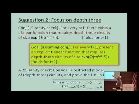 Canonical depth-three Boolean...and matrix rigidity - Oded Goldreich