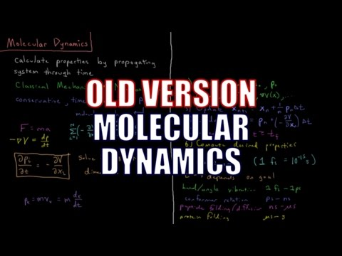 Computational Chemistry 3.8 - Molecular Dynamics (Old Version)