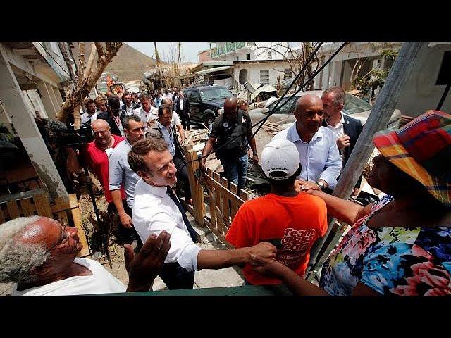 European leaders visit islands devastated by Hurricane Irma