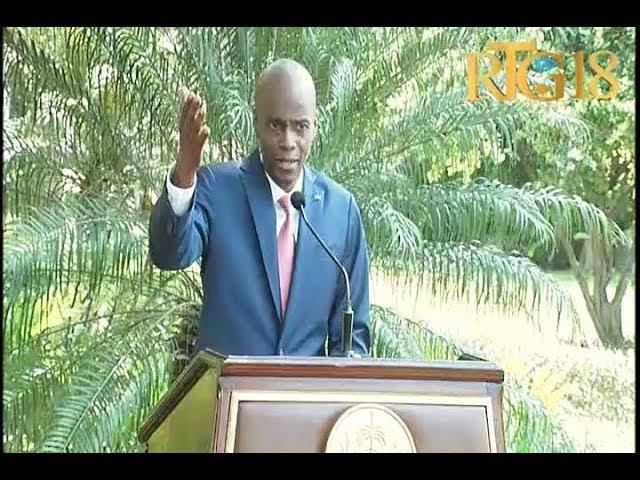 Conférence de presse du Président Jovenel Moïse  autour de la conjoncture actuelle