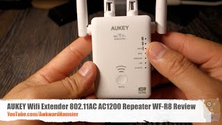 aukey wifi extender 802 11ac ac1200 repeater wf r8 4 antennas review