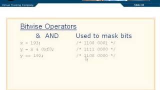 C Programming Tutorial 2-10: Bitwise Operators