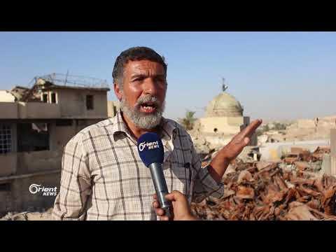 الجامع الأموي كتلة من الدمار بعد تاريخ عريق في الموصل بالعراق  - 10:21-2018 / 8 / 8