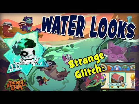 MAKING WATER LOOKS IN ANIMAL JAM + STRANGE COLORFUL GLITCH