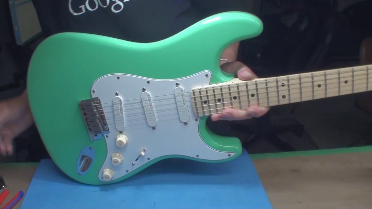hight resolution of warmoth stratocaster gets assembled with tbx tone control
