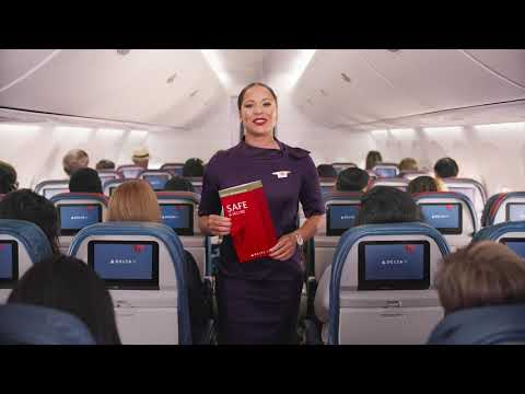 Delta Airlines Safety Card Safety Video (2019)