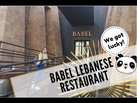 We got LUCKY!!! (Vlog # 9) BABEL Lebanese Restaurant OPENED