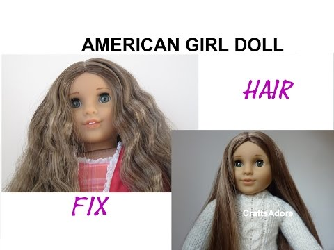 American Girl Doll Hair Straightening Tutorial ~HD PLEASE WATCH IN HD~
