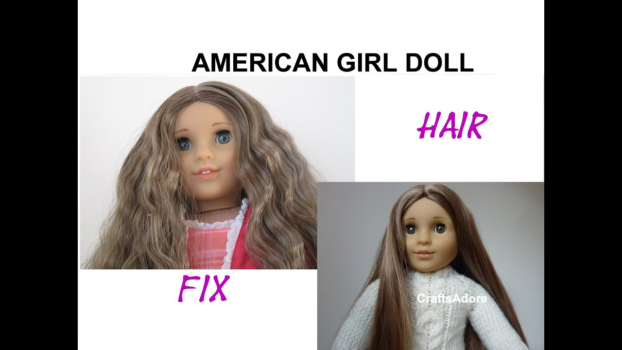 American Girl Doll Hair Straightening Tutorial HD PLEASE WATCH IN