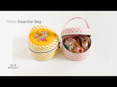 DIY Essential Bag / Makeup Bag / Mini Pouch / Round Bag / Sewing Bag / 동그란 파우치 만들기