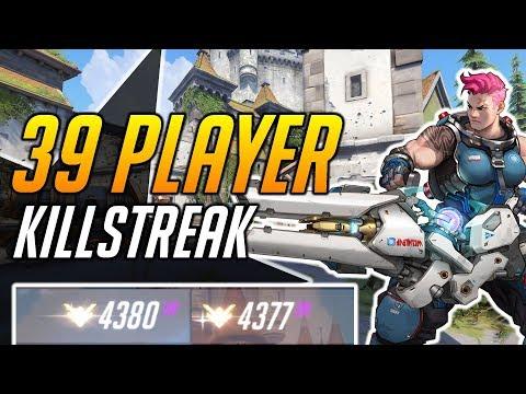 39 PLAYER KILLSTREAK - ZARYA DOMINATES HIGH SR GAME - Overwatch thumbnail