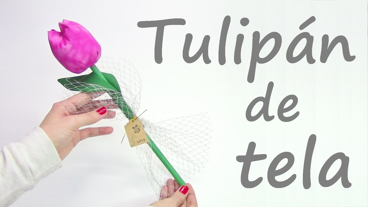 Tulip n de tela manualidades patchwork youtube - Hacer password manualidades ...