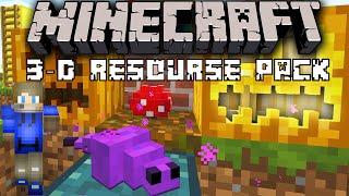 "Minecraft | ""3D EVERYTHING!"" - Default 3D Resource Pack Showcase"
